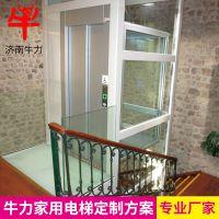 供应济南牛力家用小型家用电梯室内外二三四五层别墅电梯无机房升降设备 固定式升降台