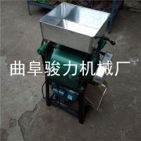 小型食品熟花生米破瓣机 时产一吨粮食价格设备 骏力牌 花生米破碎机