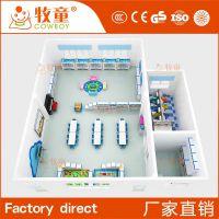 牧童供应幼儿园儿童实木组合玩具柜 室内装饰厂家定制