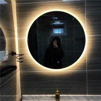 欧式圆形led 灯浴室镜化妆镜 无框壁挂卫生间 镜洗手间镜子