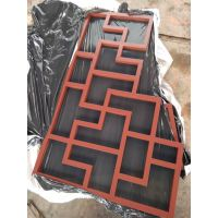 铝合金漏窗扶手木纹图片 北京朱红色漏窗