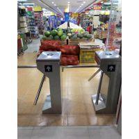 远韬超市入口单向门禁 YT-B226员工进出口刷卡考勤立式三辊闸