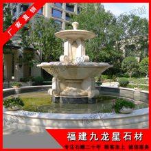 新款公园雕塑摆件 石雕喷泉水景 福建石雕水钵批发价格