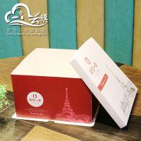(云旗包装)厂家定制批发高端生日蛋糕盒 环保食品级烘培包装盒 打包外卖西点盒 10套免邮可印LOGO