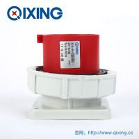 QIXING启星QX834 5芯 32A IP67高端型工业暗装插头 3C认证