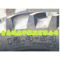 批发零售人字轮胎12.4-54中耕机轮胎拖拉机配件钢圈内胎