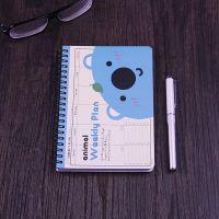 日程本计划本A5 韩版可爱卡通线圈本子记事本定制 道林纸笔记本