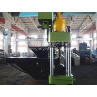 圣博牌铝屑压饼机高端定制,自动一体化铝屑压块机生产现场