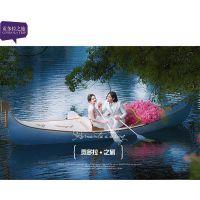 大唐牌GD-01 影视基地婚纱道具欧式木船 景点景观装饰木船 5米6米贡多拉小艇