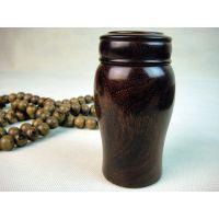 供应小叶紫檀木雕件茶叶罐储香罐香道用品 小号茶水杯雕刻摆件E801号