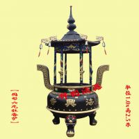 圆形六龙柱香炉价格,寺院佛堂香炉定做。