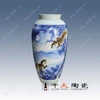 景德镇千火陶瓷 落地花瓶中式酒柜玄关摆件厂家批发