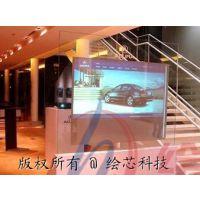 扬州展馆65寸互动多媒体透明屏安装调试