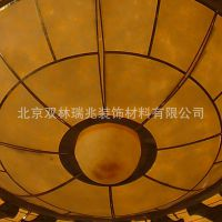 北京双林瑞兆定制酒店非标大型云石灯具