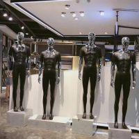 电镀变脸男模特销售 时尚男装全身模特道具 玻璃钢男模特人台