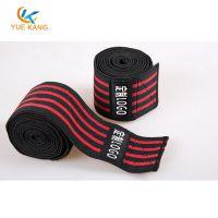 涤纶松紧运动护膝 高端举重深蹲健身缠绕式护膝绑带 定制生产