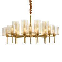 供应美式全铜客厅艺术灯饰 后现代简约餐厅灯具酒吧台蜡烛吊灯