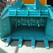 洋马150挖掘机轴式粉碎斗 汽车论坛粉碎机 塑料包装破碎斗 减容设备