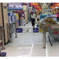 远韬超市入口感应器 防盗智能摆闸门 四柱圆柱摆闸