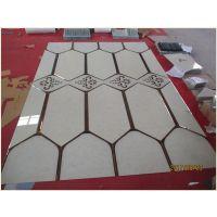 现代中式木纹图案家装背景墙艺术玻璃拼贴 雅致韵味家装背景装饰