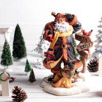 创意树脂圣诞老人 平安夜孩子圣诞节礼物工艺品摆件圣诞装饰礼物