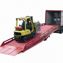 移动式登车桥 佛山欧美款登车桥生产厂家 适合大吨位大叉车用的卸货平台