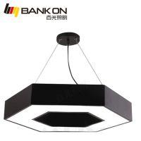 百光照明led几何形优质亚克力商业六边形铝材办公室吊线灯
