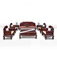 941红木网_中式阔叶黄檀(黑酸枝)沙发 七件套