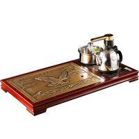 大展宏图茶台纯铜茶盘实木家具护栏杆新中式风格铜扶手