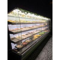 郑州郑州小火锅店专用菜品风幕柜|定制带加湿功能菜品柜