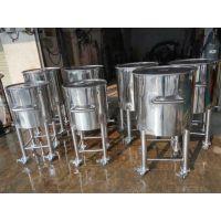 广州方联供应304不锈钢移动密封桶酿酒设备手推移动罐316储料桶