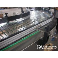 厂家直销不锈钢链板输送机,转弯链板机