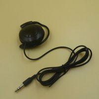 深圳厂家专业订制单边挂耳耳机 导游专用D字耳机