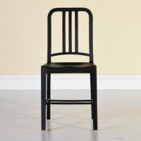 美式餐厅铁艺休闲椅子 创意彩色金属海军椅