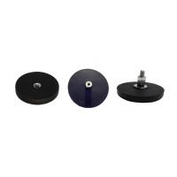 黑色橡胶磁铁吸盘 橡胶磁性挂钩 车顶灯磁铁固定器 D22 43 66 88MM M6 M8内外螺纹