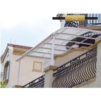 专业定制别墅露台棚 户外阳台耐力板棚 遮阳露天 遮雨棚 L型 R型 铝合金主体 顶篷聚碳酸酯板