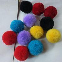 2cm红色毛球黑色毛线球绿色毛绒球