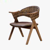 实木餐椅 北欧现代简约 靠背带扶手酒店咖啡厅会所设计师餐厅椅子