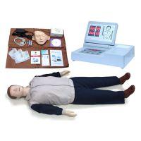 心肺复苏模拟人全身CPR心脏复苏训练人体模型 触电急救假人模型