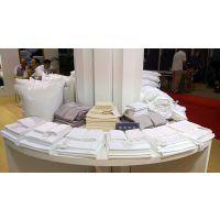 酒店被套批发市场纯棉缎条四件套宾馆床上用品厂家直销