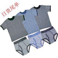 日式中小童3-8岁印花短袖T恤童装新款夏季纯棉舒适透气短T衫套装买上衣送内裤
