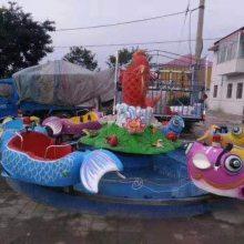 六臂十二座鲤鱼跳龙门游乐设备 广场电动玩水设备 亲子互动鲤鱼戏水玩具
