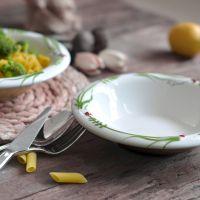 彩绘浮雕釉下彩汤盘汤碗 陶瓷餐具菜盘子深盘七星瓢虫创意