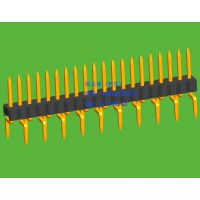 1.27mm间距单排排针蜈蚣脚双向折弯插板系列