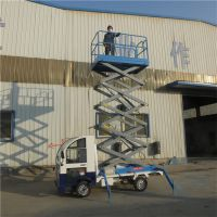 潍坊厂家定制8M车载剪叉式升降平台 路灯检修用电动登高作业车