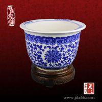 陶瓷花盆批发价格,优质手绘青花花盆定做厂家