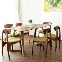 北欧风格实木白橡木V型餐桌