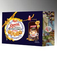河北礼盒饼干厂家好卫来丹麦曲奇饼干礼盒装1kg食品厂家批发代理价格