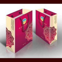 印刷牛皮纸袋 手提纸袋批发 横款单粉卡纸袋手提袋 免费设计