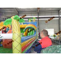 钻洞运动玩具充气汽包蹦床 汽包陆地充气乐园 大型200平米新样式蹦蹦床